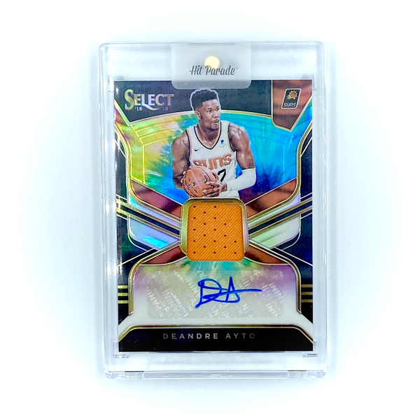 Select Basketball -  DeAndre Ayton 2018-19 Suns Tie-Dye Prizm RC Patch Auto  #4/25