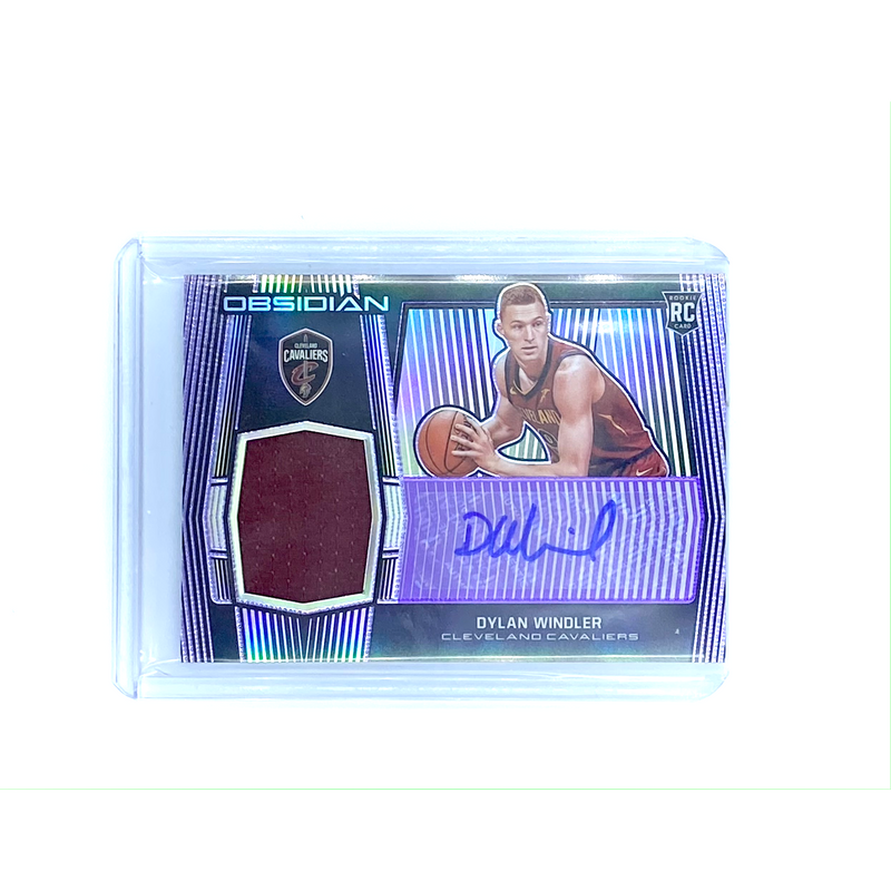 Obsidian Basketball -  Dylan Windler Cavaliers 2020 Purple Prizm  AUTO  RC Patch -  #56/75