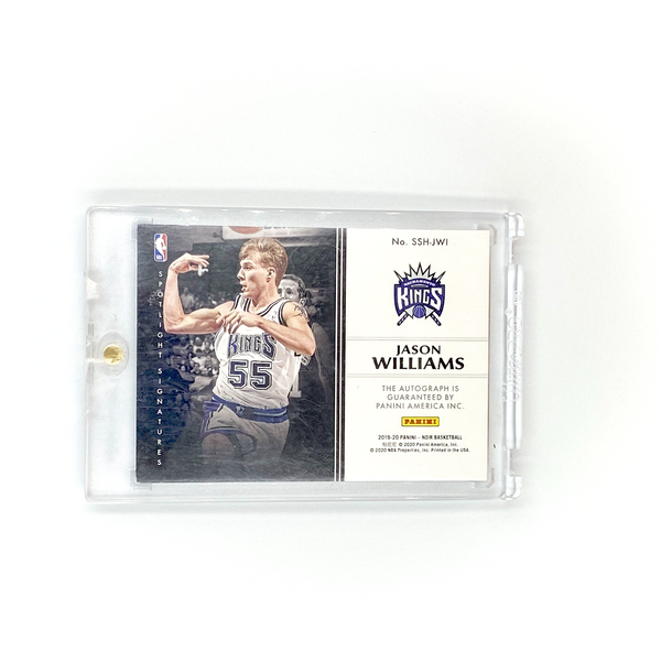 Panini Noir - Spotlight Jason Williams Gold Ink AUTO #/49 Sacramento Kings 2019-20
