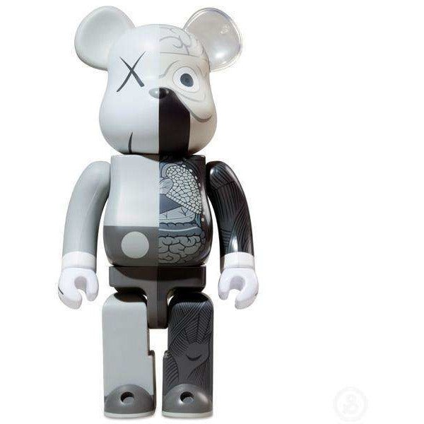 KAWS X 1000% Bearbrick (2010) - Grey Dissected