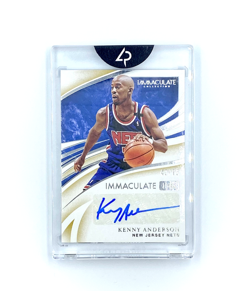 Immaculate Basketball -  Kenny Anderson Nets AUTO  2019-20 #42/75