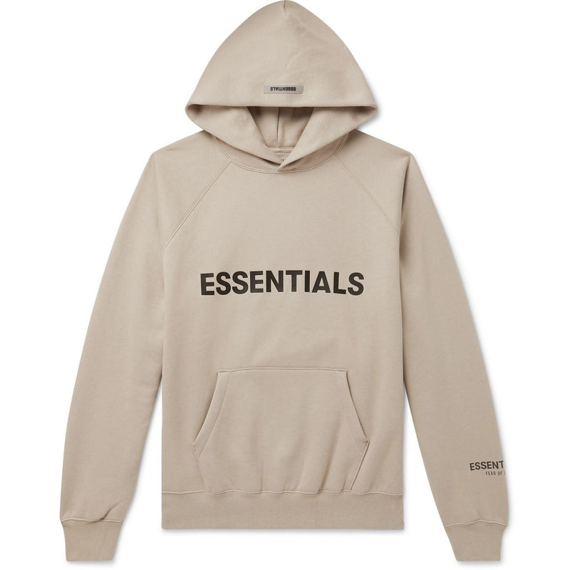 FOG - ESSENTIALS 3D Silicon Applique Pullover Hoodie (Light Brown)