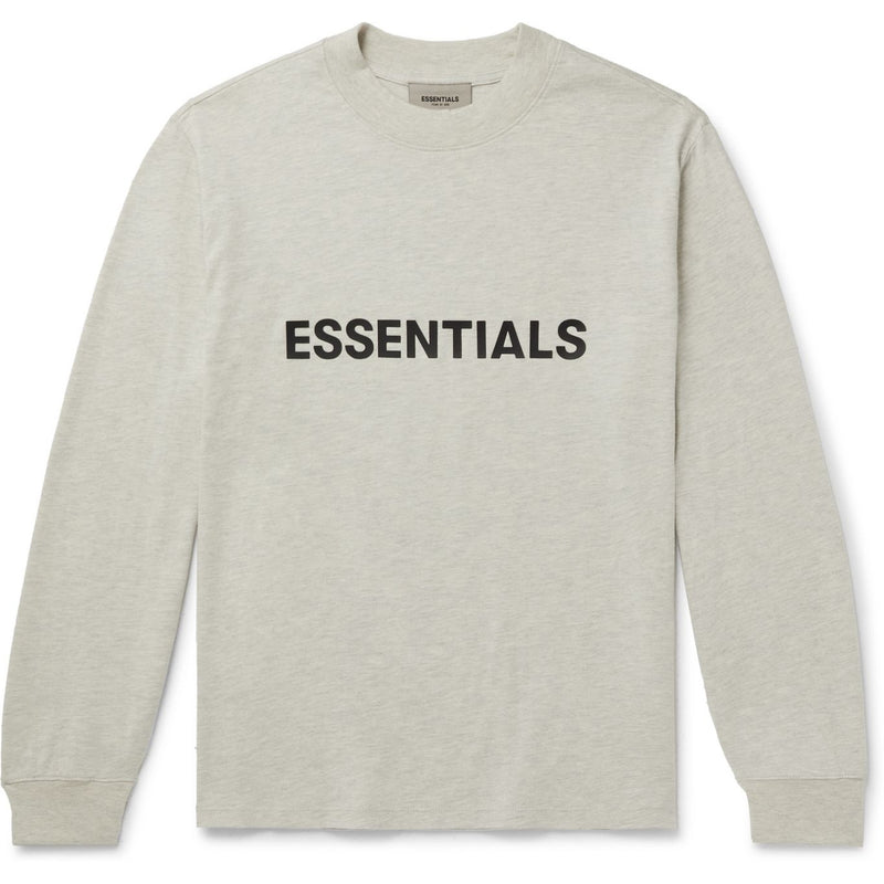 FOG - ESSENTIALS 3D Silicon Applique Long Sleeve Tee (Oatmeal)