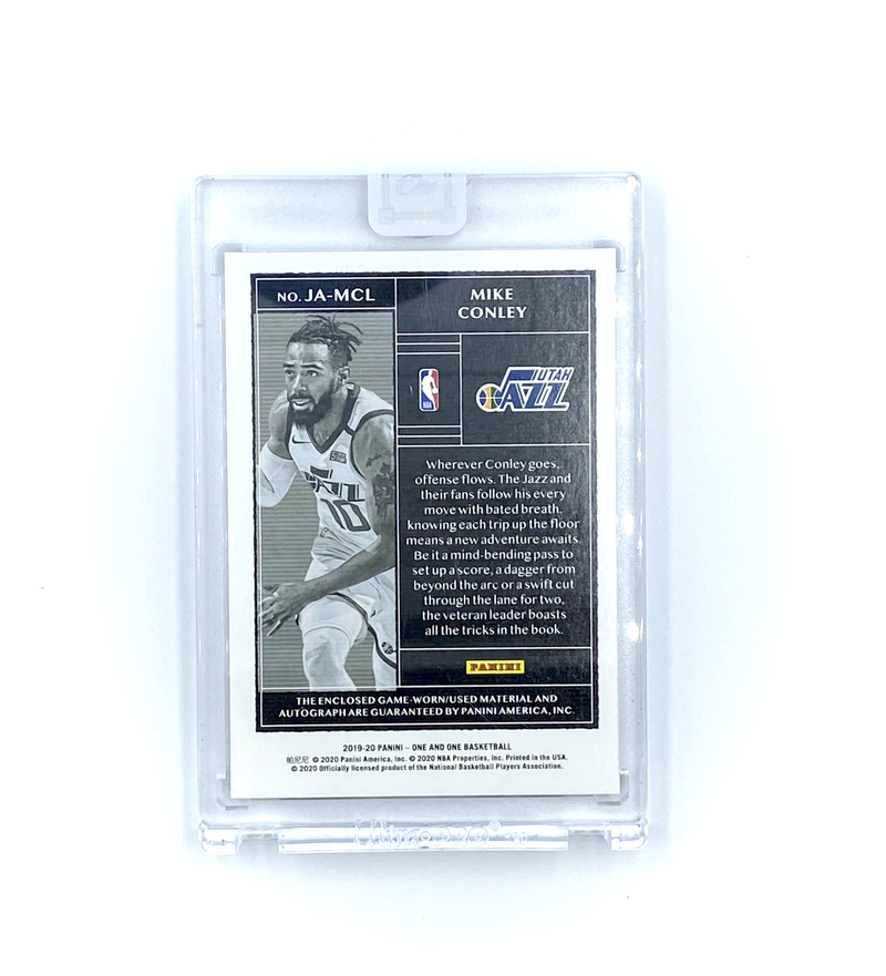 One and One Basketball -  Mike Conley Jazz AUTO Patch  2019-20 #3/99