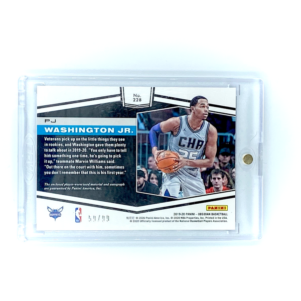 Panini Obsidian - PJ Washington Jr. 2019-20 HORNETS UNGRADED