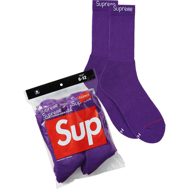 Supreme Hanes Socks (4 Pack) - Purple