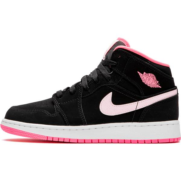 Air Jordan 1 MID - Black Digital Pink Womens (GS)