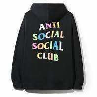 Anti Social Social Club Rainbow zip up