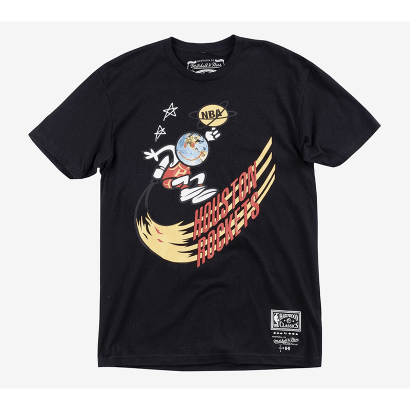 Astroworld Mitchell and Ness Black Tee