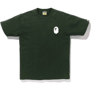 Bape multi logo back tee - Green