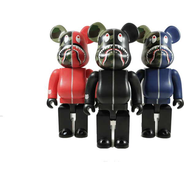 BAPE X 1000% Bearbrick (2017) - 1st Camo Shark (Set of 3)