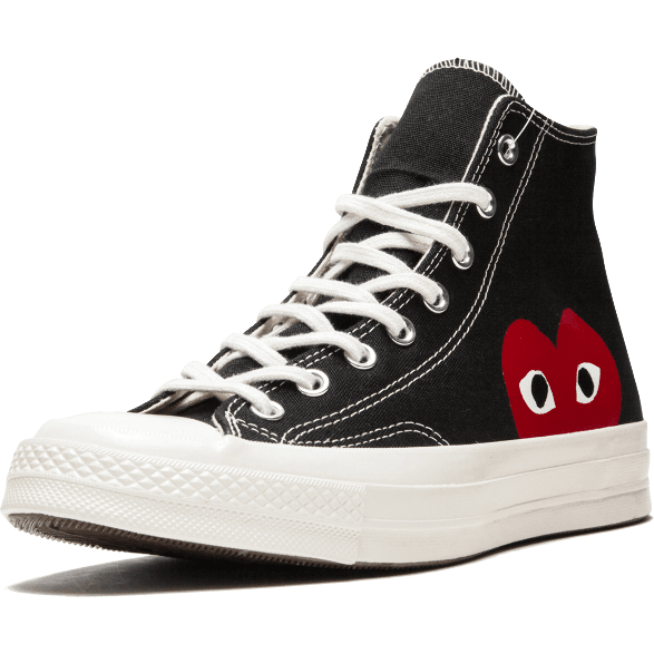 Converse x Comme des Garcons PLAY HIGH Black