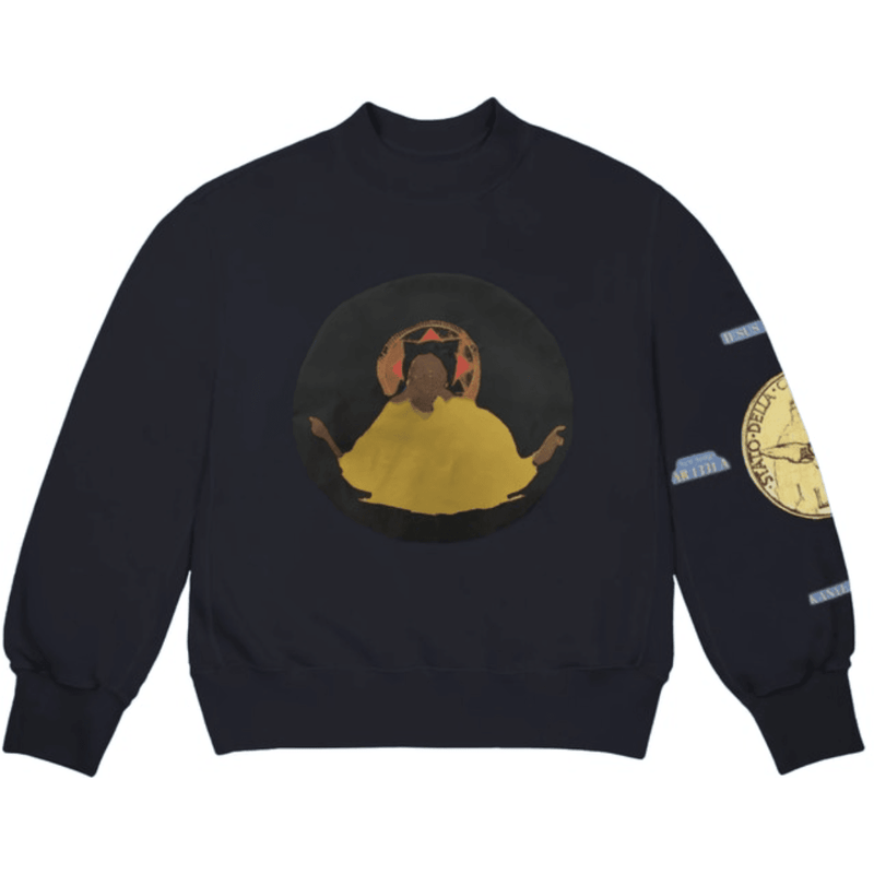 Kanye West Jesus Is King Detroit Crewneck - Navy