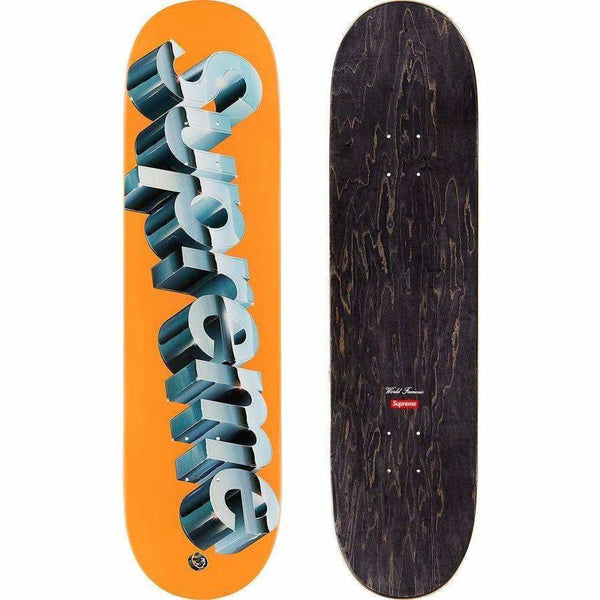 Supreme Chrome Skate Deck - Orange
