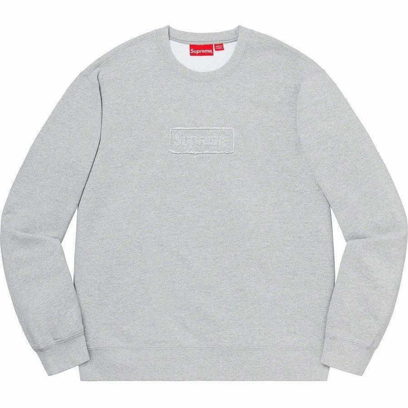 Supreme Cutout Crewneck - Grey