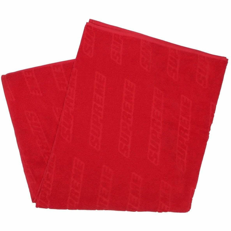 Supreme Debossed Logo Beach Towel SS18 - Red