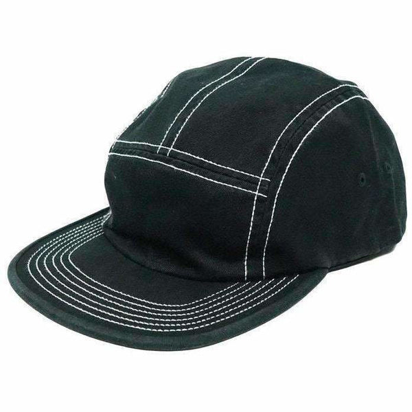 Supreme Fitted Rear Patch Camp Cap Black