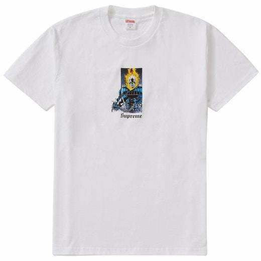 Supreme Ghost Rider Tee - White