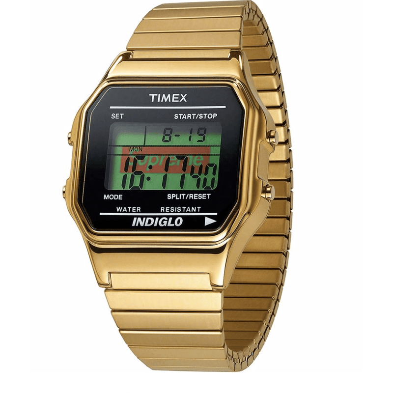 Supreme Timex Watch - Gold