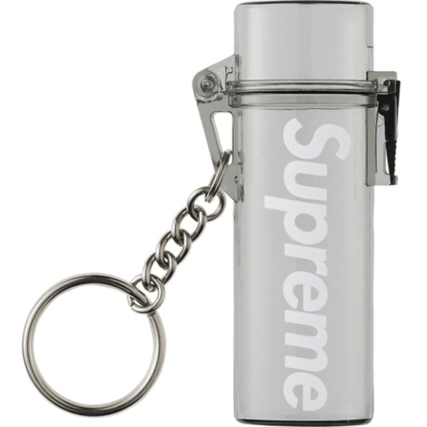 Supreme Waterproof Lighter Case Keychain - Smoke
