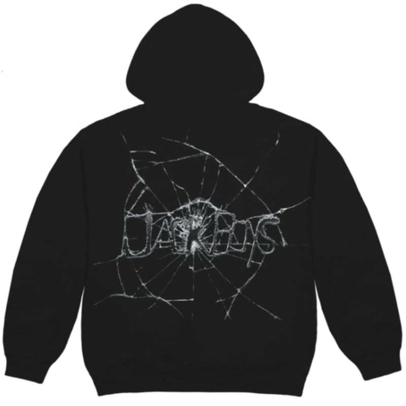 Travis Scott Jack Boys Cracked Hoodie - Black