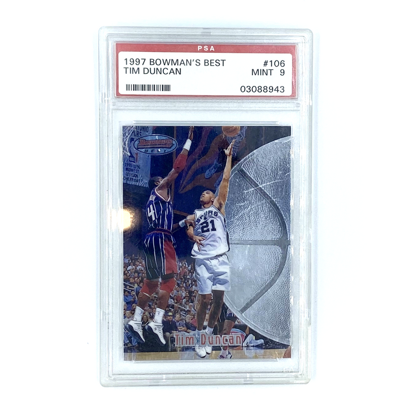 The Tops Company -  Tim Duncan 1997  Bowman's Best   #106 PSA 9 MINT