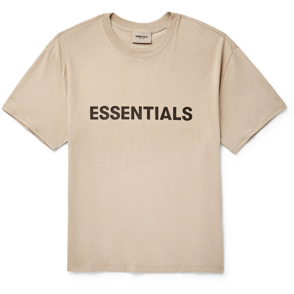 FOG - ESSENTIALS 3D Silicon Applique Boxy Tee (Light Brown)