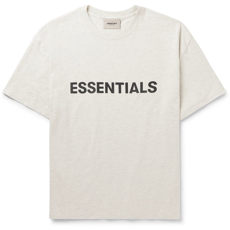 FOG - ESSENTIALS 3D Silicon Applique Boxy Tee (Oatmeal)