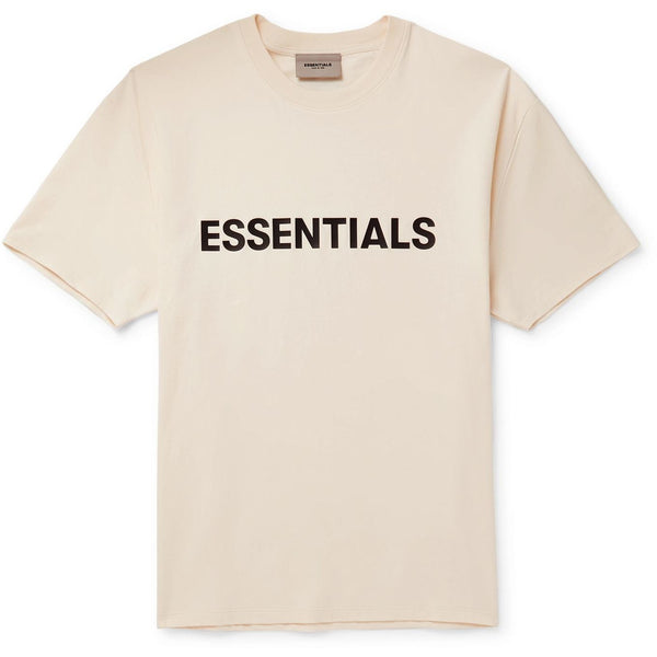 FOG - ESSENTIALS 3D Silicon Applique Boxy Tee (Buttercream)