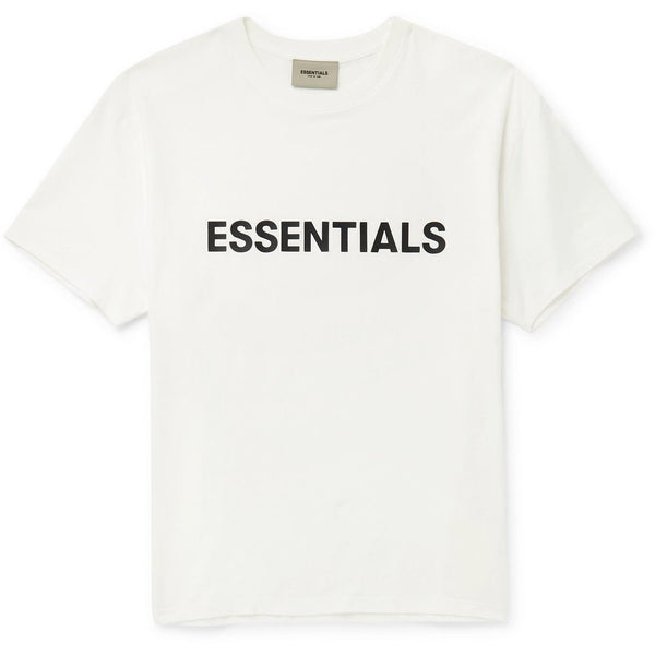 FOG - ESSENTIALS 3D Silicon Applique Boxy Tee (White)