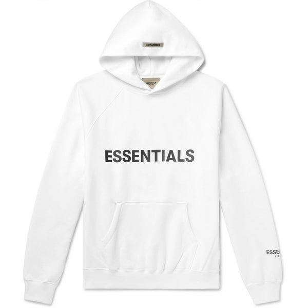 FOG - ESSENTIALS 3D Silicon Applique Pullover Hoodie (White)