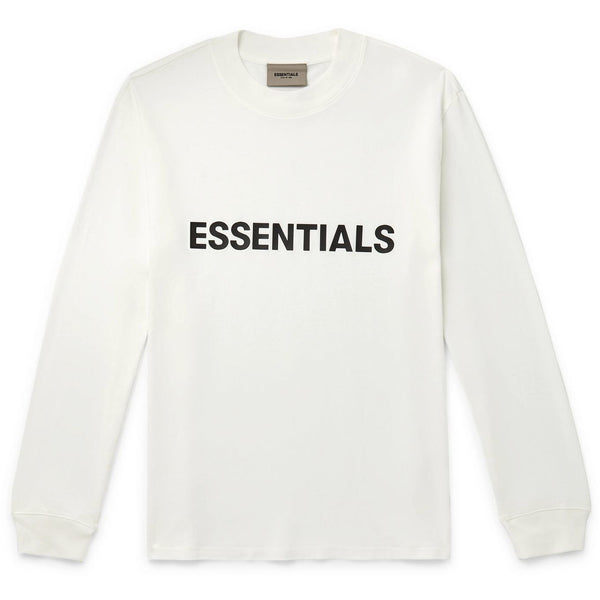 FOG - ESSENTIALS 3D Silicon Applique Long Sleeve Tee (White)