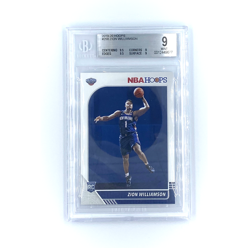 HOOPS Basketball -  Zion Williamson 2019-20 PELICANS #258 Rookie Card RC BG9 Mint