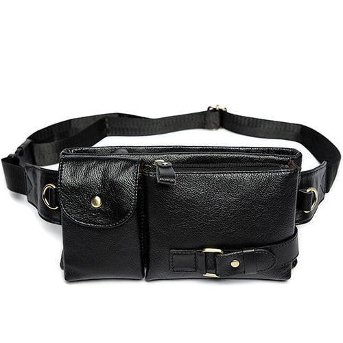 WESTAL Genuine Leather Waist Packs Fanny Pack Belt Bag Phone Pouch Bags  Travel Waist Pack Male 672f51f770a41
