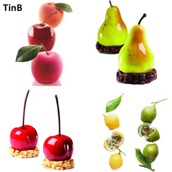 Apple, Pear, Cherry, Lemon Shape Silicone Mold Cake Mold DIY 3D Fruit Mouse Mould Cupcake Cookie Muffin Soap Moule Baking Tools