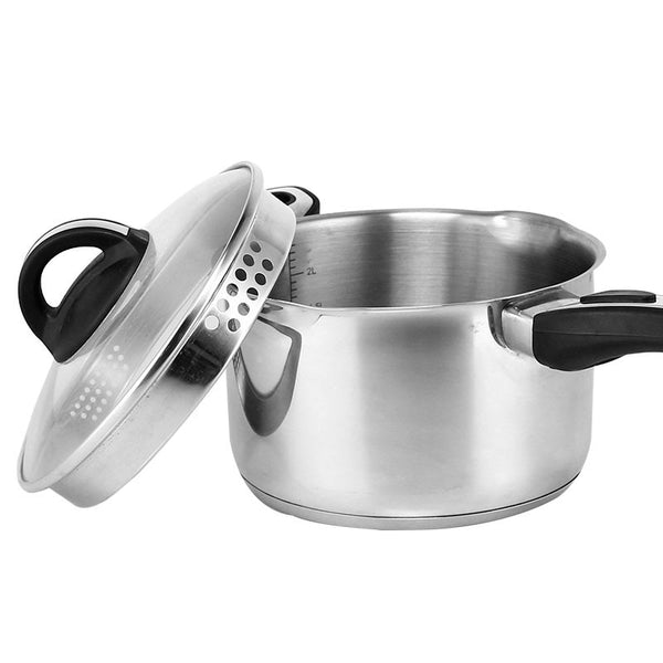 Stainless steel milk pan thickening of warm milk  general binaural soup pot non-stick no coating