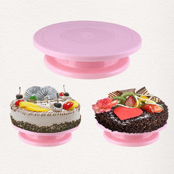 Kitchen Cake Plate Revolving Decoration Stand Platform Turntable Round Rotating Cake Swivel DIY Birthday Party Baking Tool
