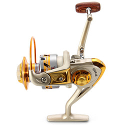 Yumoshi EF 1000- 9000 Fishing Reel 12BB 5.5 : 1 Metal Spool Spinning Fishing Reels Folding Handle Reel Europe Hot-selling