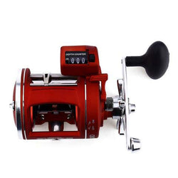 YUMOSHI Left / Right Hand 12 Ball Bearings Fishing Reel High Speed Fishing Reel with Electric Depth Counting Multiplier