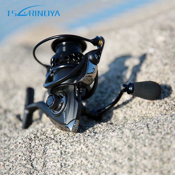 TSURINOYA NA2000 3000 4000 5000 9BB 5:2:1 Fishing Reel Aluminum Fishing Spinning Reel Fish Tool Automatic Folding Handle