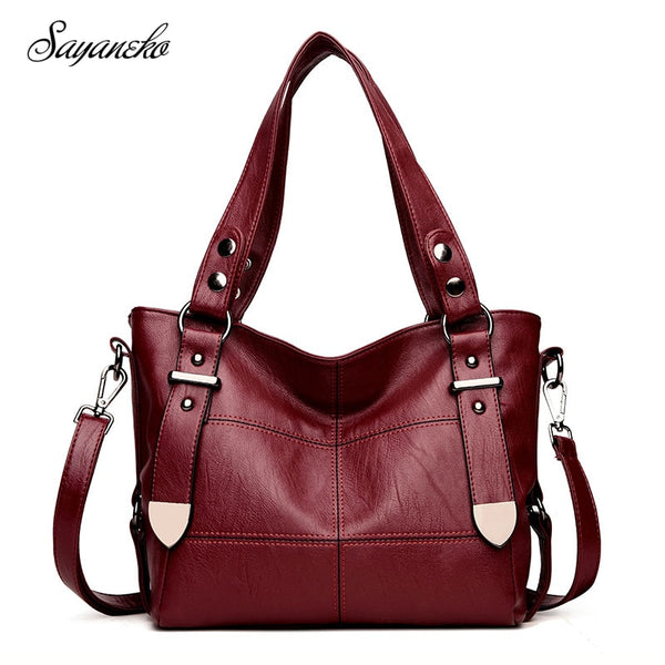 Bags For Women Luxury Handbag Female Brand Designer Shoulder Bag Casual Shopping Tote PU Leather Handbags Double Arrow Soild Bag