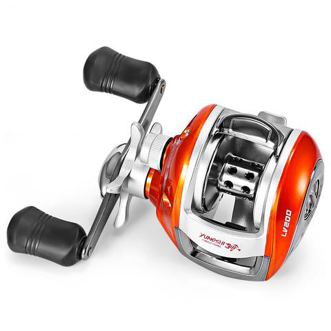 YUMOSHI 12+1BB Left / Right Hand Baitcasting Reel 6.3:1 Bait Casting Fishing Reel Magnetic Brake Water Drop Wheel Coil