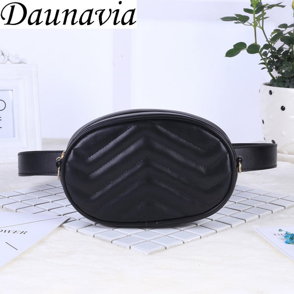 2018 New Bags for Women Pack Waist Bag Women Round Belt Bag Luxury Brand Leather Chest Handbag Beige New Fashion High Quality