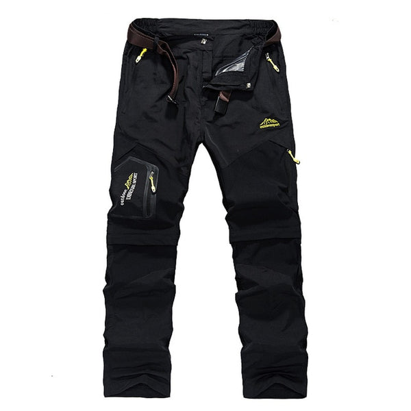 40a61c9b8cfa Hiking Pants Outdoor Quick Dry Pants Men Summer Breathable Camping Trousers  Removable Shorts Trekking Hunting Fishing