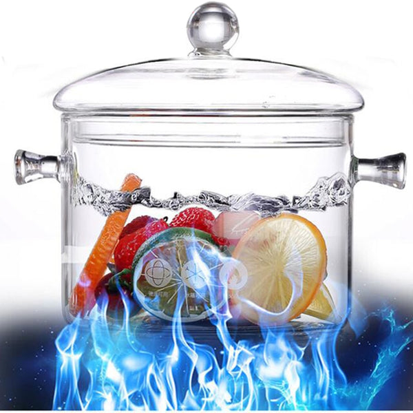Creative Glass Salad Instant Noodle Bowl Handmade Cooking Tools Transparent Kitchen Supplies