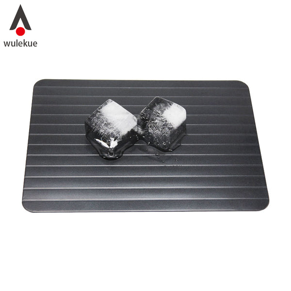 Wulekue Magic Fast Unfreezing Of food Thawing Tray Meat Rib Defrosting Board Defrost Food In Minutes Aluminum