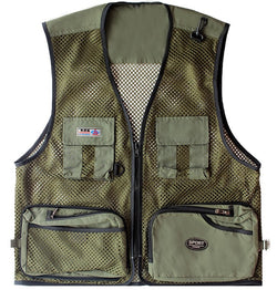 Outdoor sport many pockets vest Waistcoat Suitable for fishing hunting riding 0.2kg super light weight vest