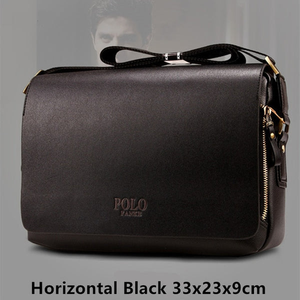 POLO New Arrival Fashion Business pu Leather Men Messenger Bags Promotional Crossbody  Shoulder Bag Casual Man e9d4bfdb3460f