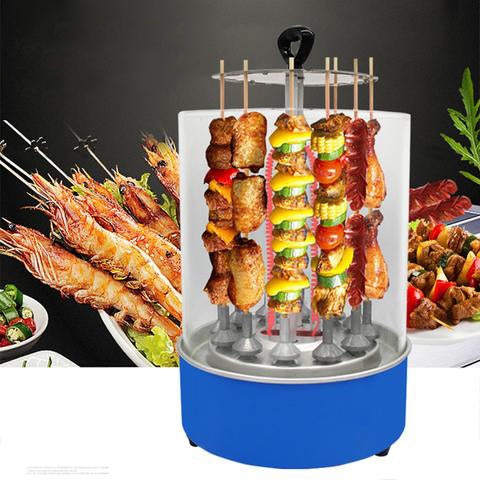 220V 900W Electric Barbecue Grill BBQ Cooking Machine Vertical Rotating Rotisserie Smokeless 3D Automatic Rotation Detachable Wash
