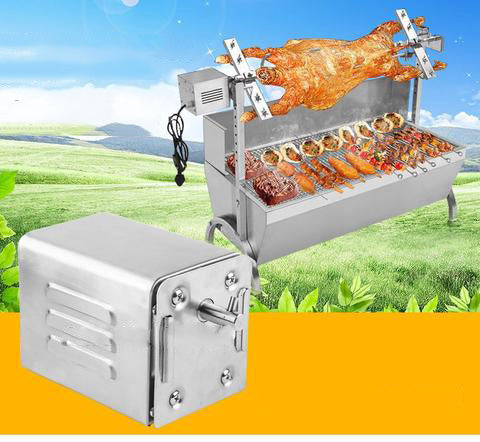 Stainless Steel 60kgs Pig Lamb Goat Chicken Charcoal BBQ Grill Roaster Spit Rotisserie Electric Motor